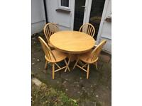 Solid beech table acne 4 chairs