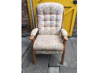 Very solid armchair great for older person