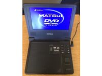 """Portable DVD player 11"""" complete with charger, remote and cables"""