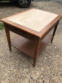 Oak marble top table