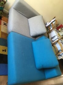 Sofa - Softline Ohio Blue and Grey