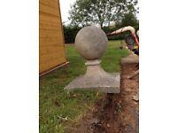 Concrete garden globe ornaments