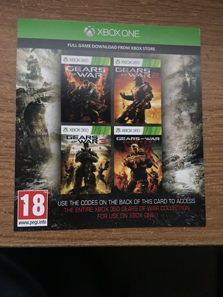GEARS of WAR No 1 , 2 , 3 & Judgement Day FULL Version's OF These 4 CLASSIC 360 TITLES Via XBOX ONE