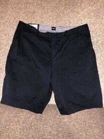 Brand New Boss Men's Black Stretchy short in waist size UK 34