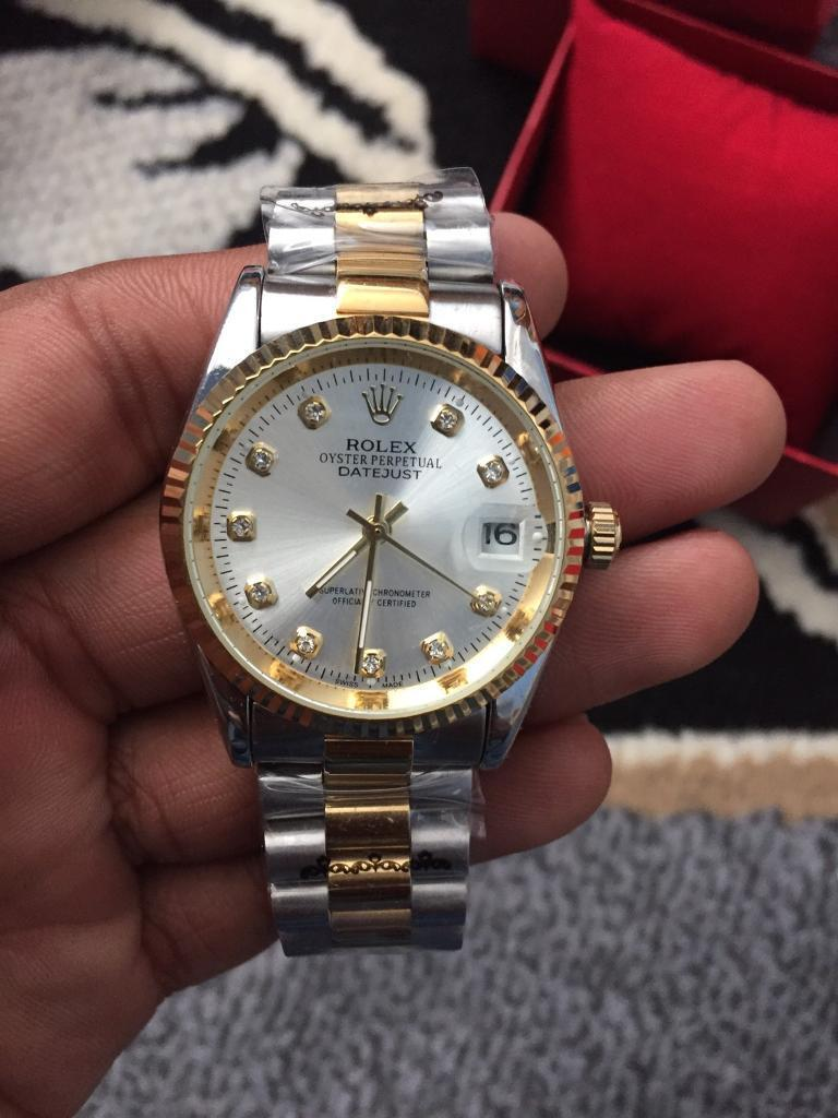 ROLEX DATEJUST GOLD AUTOMATIC WINDER SWEEP MOVEMENT