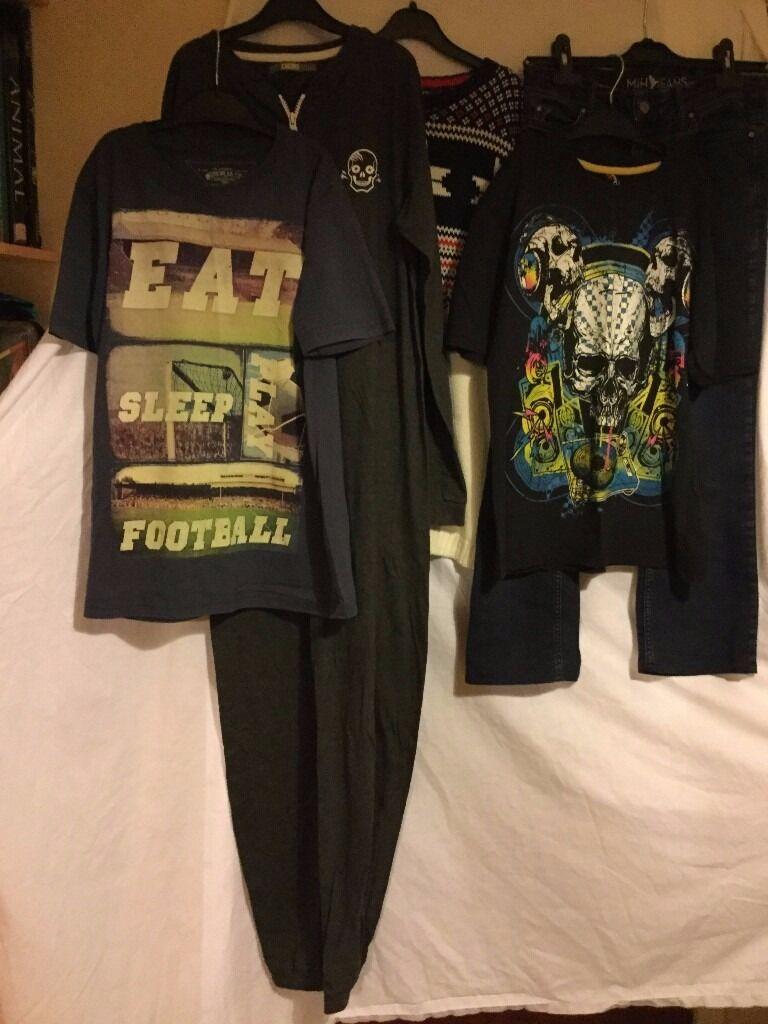 Bundle of very good condition, worn, teenage boy's clothes.