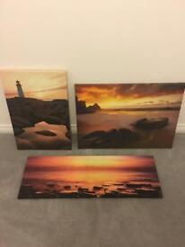 Coastal canvas set