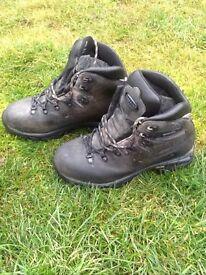 Wonderful Zamberlan High Quality £180 Walking Boots Navy Leather size 5 4 #2