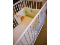 Cot bed with mattress in very good, clean condition