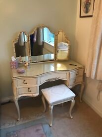Beautiful vintage Furniture, dove tailed painted furniture. Want to keep but do not have the room.