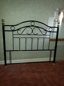 Black and gold metal 5 foot (King Size) headboard