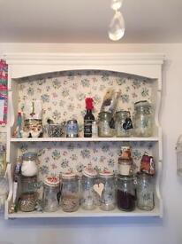 Pine shelf with cath kidston lined insert