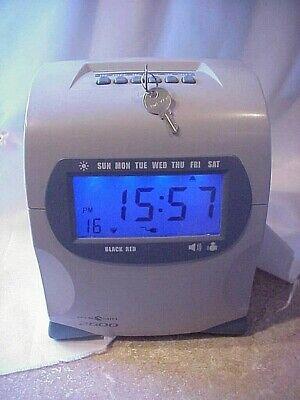 Pyramid 2600 Digital Time Punch Clock Payroll Clock W Two Keys