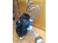 Set of golf clubs, children's / young adult with bag and trolley