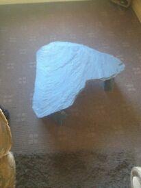 Large blue slate decrotive table