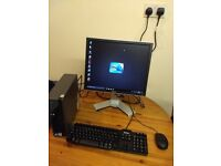 2 (Available) 6 Months Warranty Small Form Factor Complete PC Computer System with Office & WiFi