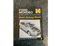 Ford Mondeo Haynes manual 07-61 reg