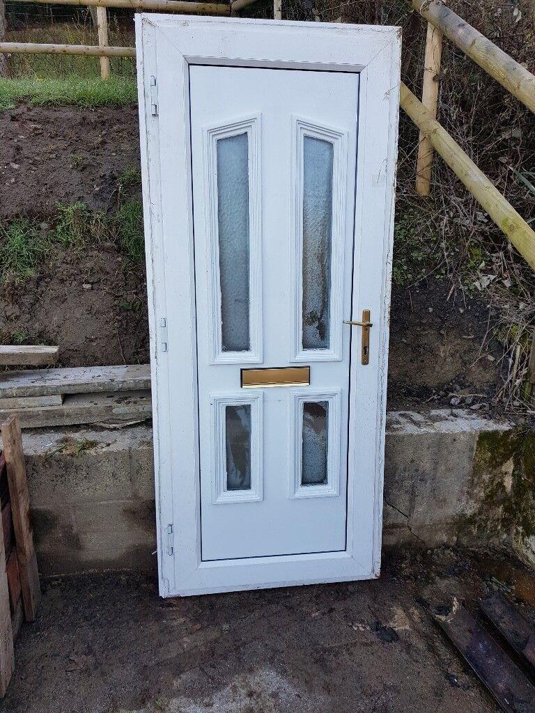 Reclaimed White Upvc Front Door In Malvern