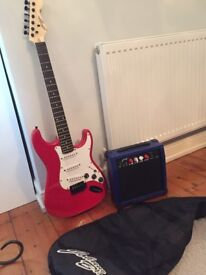 Guitar and amp, full starter pack. Johnny Brook. Excellent condition, never used.