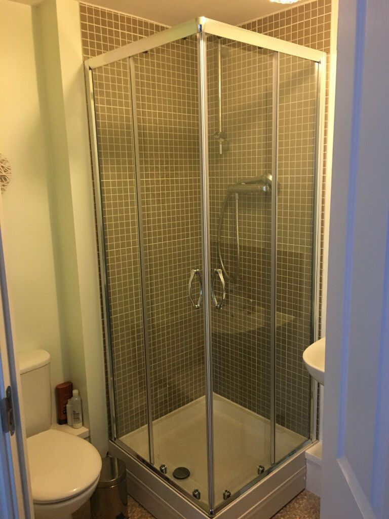 Corner shower enclosure for 760x760 tray. Brand new.   in Melton ...