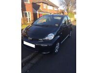 Black Toyota Aygo, Good condition (1 previous owner)