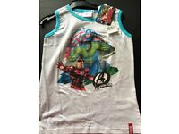 Avengers Vest - White - 10yr - £4.50 - Brand New with Tags