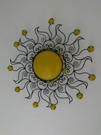 Wrought iron sun ceiling light