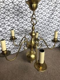 CHRISTOPHER WRAY BRASS CHANDELIER