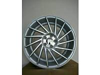 "Brand new 18"" wc6 alloy wheels 5x112 staggered vw audi mercedes"