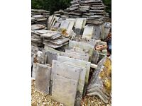 Bradstone Roofing Tiles (Reclaimed) Approx 450 tiles, assorted sizes including ridge tiles