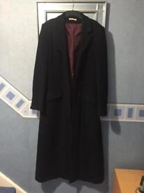 Ladies black Long Tall Sally over coat. Size 16