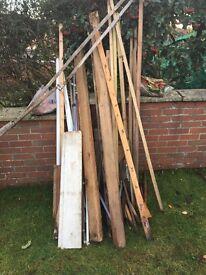 Wood - assorted planks etc good for wood burners , odd jobs etc.