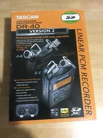 Tascam dr-40 version 2 professional audio recorder