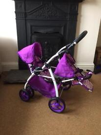 Twin Dolls Pushchair