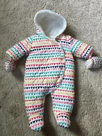 Next baby snowsuit size 0-3 months