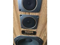 Yamaha Retro walnut 140w HUGE floor standing hifi Speakers