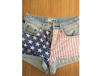 Top Shop denim shorts W26