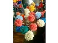 Nursery decorations Giant pom-pom flowers ✋ all colours