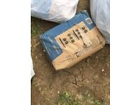 3 x BAGS of 25 kg cement bag brand new