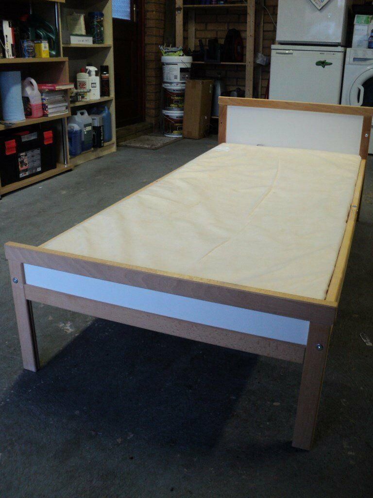 Ikea SNIGLAR toddler bed with mattressin Redditch, WorcestershireGumtree - For Sale I am selling my sons old Ikea SNIGLAR bed as it is no longer being used, he now has a new bed and this is surplus to requirements. Bed comes with a mattress and the slats required. The mattress is used of course, please see pictures but it...