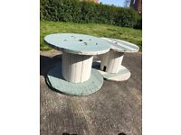 Painted Cable Reel Garden Table
