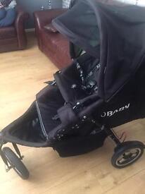 O baby double buggy/pram
