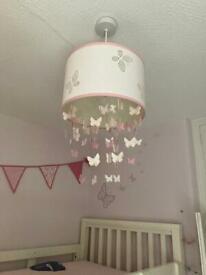 Girls Lampshade Light shade Pink Butterflies