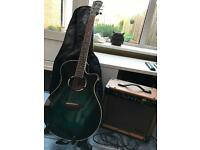 Yamaha electric acoustic guitar apx500 and stagg amp