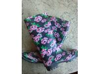 Flower Welly Boots size 5