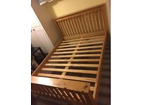 KING SIZE PINE BED IN EXCELLENT CONDITION