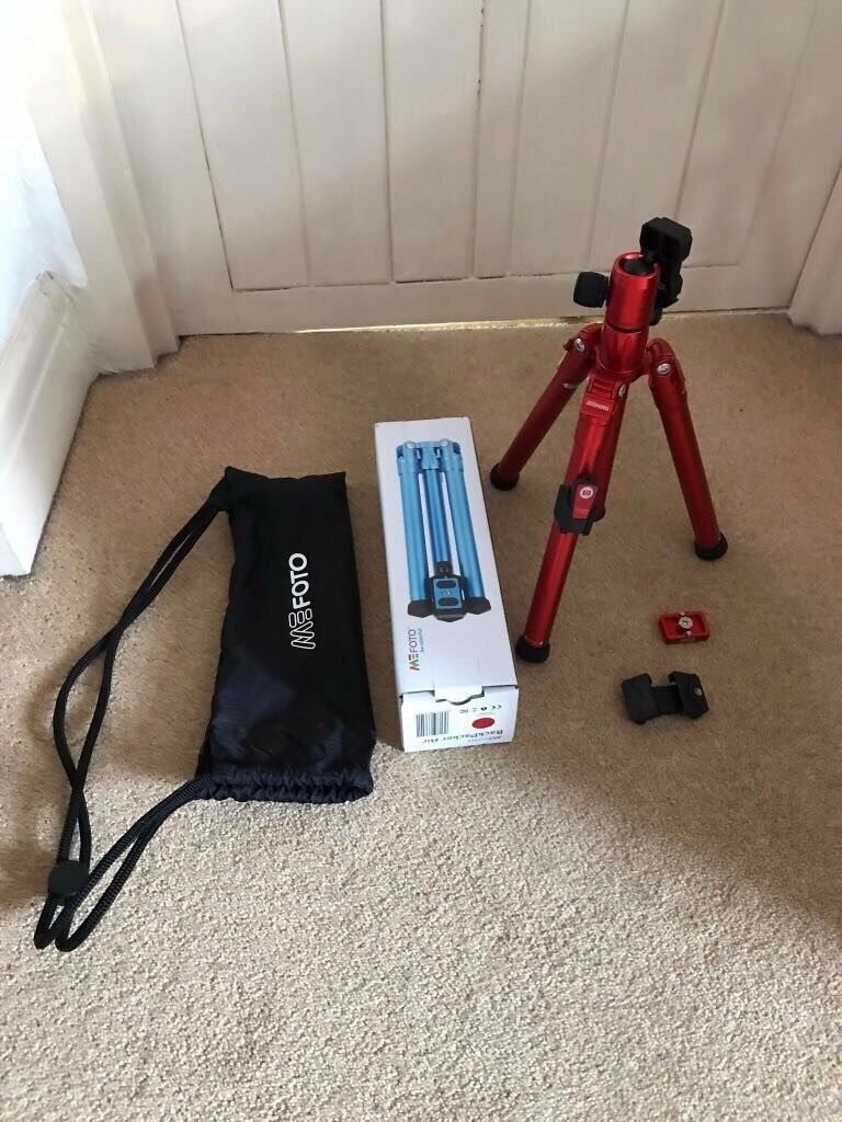 MeFoto BackPacker Air Photo/Phone travel tripod with remote, brand new in box