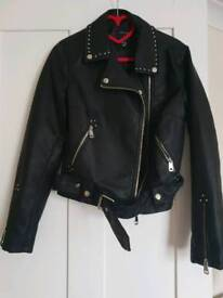 Size 10 faux leather jacket from new look
