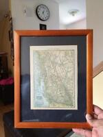 1908 Antique Map of British Columbia - 107 years old