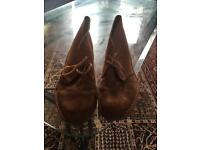 Clark desert boot brown suede size 8